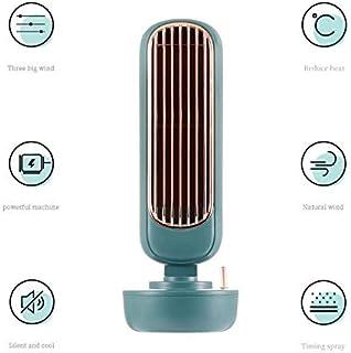 AKEFG Personal Enfriador portátil de Aire y humidificador, Ventilador de Escritorio, para el hogar y la Oficina, con conectividad USB,Verde