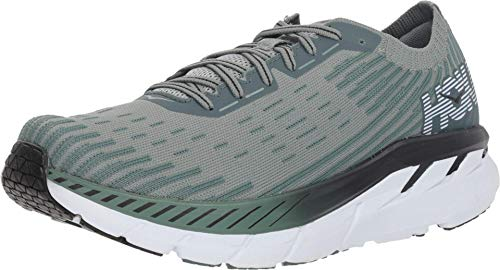 HOKA ONE ONE Men's Clifton 5 Knit Silver Pine/Chinois Green 9.5