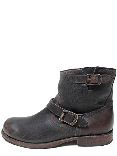 Frye Wayde Engineer Inside Zip Dark Brown Mens Boots 87343-DBN-Brown-9.5-D