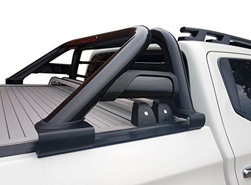 Fahrzeugspezifischer Schwarzer Überrollbügel (2006-) 76mm mit Gitter inkl. Teilegutachten - passend für alle Kabienentypen~