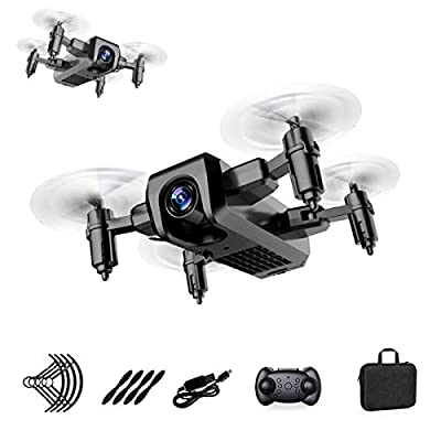 KEMOO Mini Foldable Aerial Drone,Altitude Hold Mode,One Key Return,Headless Mode, 3D Flips,Speed Adjustment,Super Easy Fly for Training,Mini Drone for Kids or Adults