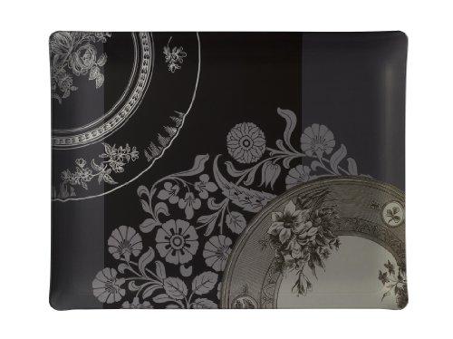 PLATEX 4046361031 Plateau en Acrylique Décor Diane Noir 46 x 36 cm