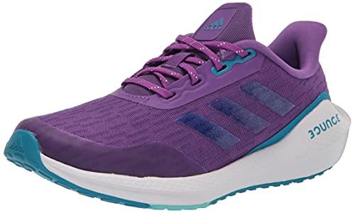adidas EQ21 Running Shoe, Purple/Pulse Aqua/Sonic Aqua, 4 US Unisex Big Kid