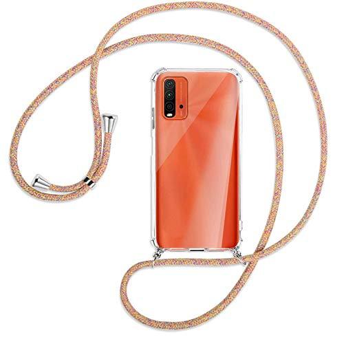 mtb more energy® Collar Smartphone para Xiaomi Redmi 9T (6.53  ) -  Rainbow -  Funda Protectora ponible -  Carcasa Anti Shock con Cuerda Correa