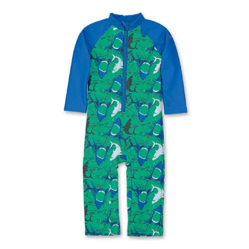 Sterntaler Kinder Jungen Schwimmanzug mit Windeleinsatz, Einteiler, UV-Schutz 50+, Alter: 9-12 Monate, Größe: 80, Pfefferminz