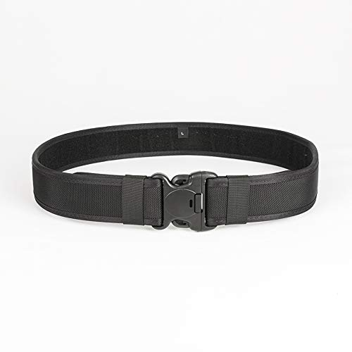Duty Belt Tactical Belt Law Enforcement Utility Security Military Police Gear Heavy Duty Belt Nylon Combat Officer Equipment 1680D Black Nylon Duty Belt (Medium