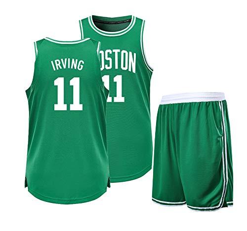 È un regalo per Kyrie Irving NO.11 Brooklyn Nets fan Maglie da basket Abbigliamento casual Top gilet + shorts tute Studenti universitari Abbigliamento sportivo giovanile Abiti per adulti-green-L