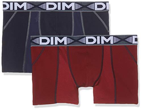 Dim Sous-vêtements Homme Herren 3D Flex Air Boxer X2 Boxershorts, Mehrfarbig (Rouge Craie/Bleu Denim 8nw), X-Large (Herstellergröße: 5) (2er Pack)