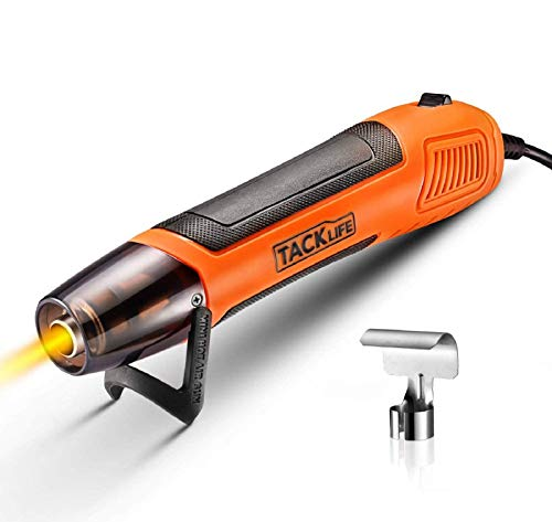 TACKLIFE Mini Heat Gun, 350W/662℉ Hot Air Gun with 6.56Ft Long Cable, Overheat Protection Light Heatgun for Epoxy Resin Crafts Shrink Wrapping Vinyl Wrap Wire Connectors Candle Making - HGP35AC