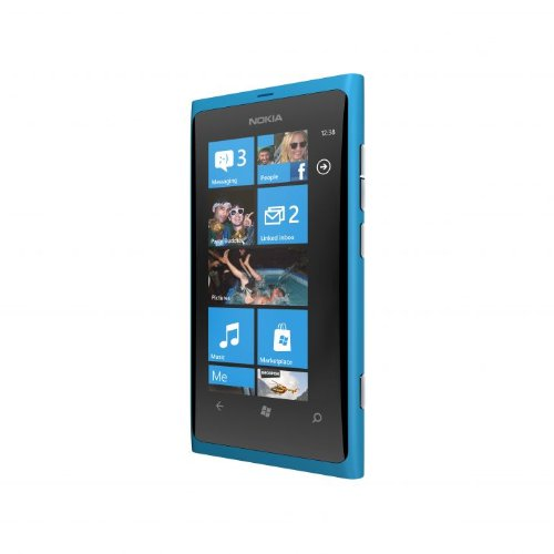Nokia Lumia 800 Smartphone, Quad Band, Display da 3.7', Fotocamera da 8 MP, Wi-Fi, Azzurro