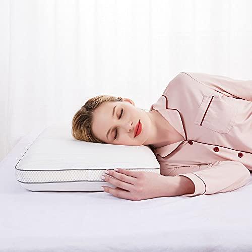 Memory Foam Kissen Schlafkissen Nackenstützkissen Atmungsaktiv Hochwertig Soft 70 x 40 x 10 cm