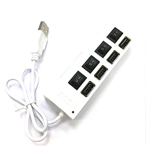 AIMADO Hub USB 2.0 a 4 Porte con interruttori di Alimentazione individuali