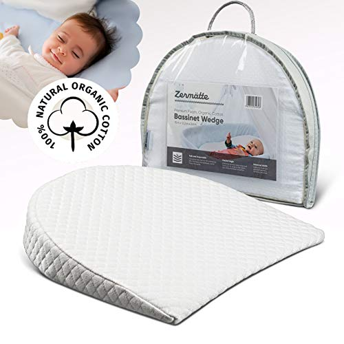 Zermätte Bassinet Wedge Pillow for Reflux Baby Sleep- for Infant and Newborn...
