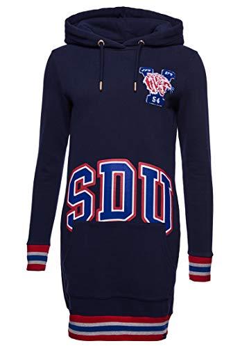 Superdry Damen Boston Varsity Hoodie Kleid Bergab Marineblau 44