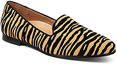 Vionic Women's North Willa Slip On Flat - Supportive Ladies Walking Shoes That Include Three-Zone Comfort with Orthotic Insole Arch Support, Medium Fit Black Tiger 9 Medium US