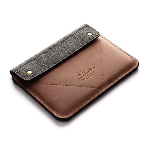 iPad Pro 12.9 Zoll, iPad 10.2 inch Ledertasche/Hülle | Classic Brown, iPad Pro 11 Zoll, 100% Wollfilz, Vintage Crazy Horse Leder Tablettständer, Tasche, 2020 iPad Air 10.9 Cover, Crazy Horse Craft