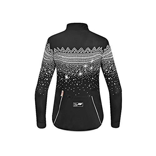 prolog cycling wear Damen Radhose Winter lang mit Träger und Sitzpolster, schwarz Größe XS, S, M, L, XL - 5
