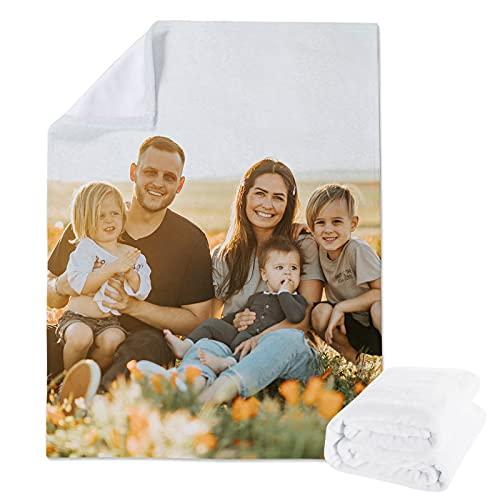 Manta de vellón Personalizada a Partir un Collage Fotos para niños o Adultos, Mantas Franela Personalizadas Mascotas con Foto y niñas, Regalo cumpleaños la Familia(80x120cm)