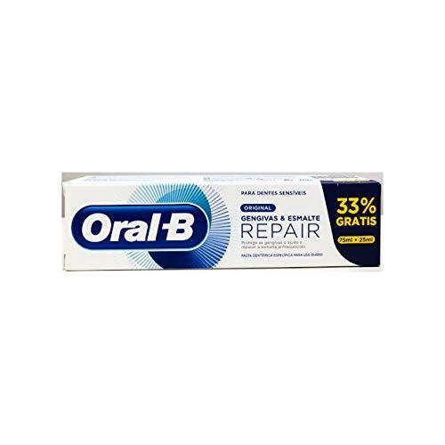 Oral-B Encías & Esmalte Repair Blanqueante, Pasta Dentífrica 75ml + 25ml