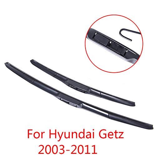 Liliguan ruitenwisser voor Hyundai Getz 2003 2004 2005 2006 2007 2008 2009 2010 2011 zachte rubberen ruitenwisserbladen