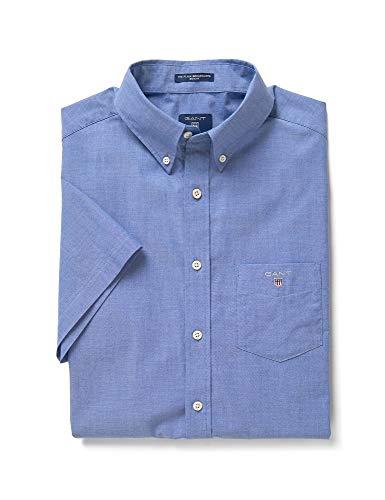 GANT Herren Hemd The Broadcloth Regular Fit Kurzarm Stoned Blue (81) M