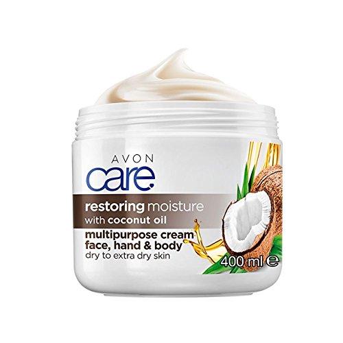 Avon Care Multiaktivcreme für Gesicht/Hände/Körper für trockene/extrem trockene Haut mit Kokosnussöl