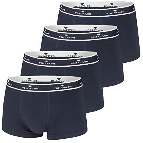 TOM TAILOR Boxershorts, 4 Stück, Navy, sportlich, bequem, schlicht, formstabil, weich (4 Stück, S / (4))