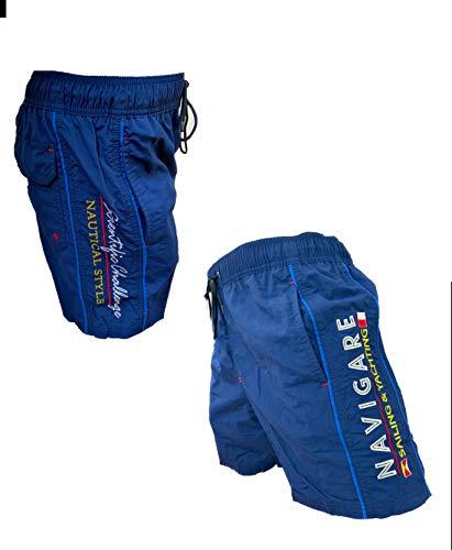 Navigare Boxer Mare Costume Uomo Pantaloncini da Bagno Swim Short 098370 (Blu 098350, XL)