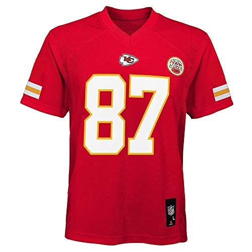 Travis Kelce Kansas City Chiefs NFL Kids 4-7 Red Home Mid-Tier Jersey (Kids 5/6)