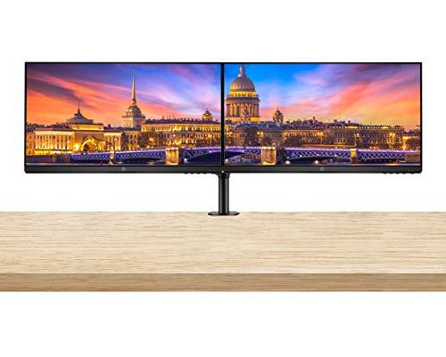 HP P24v G4 24 Inch IPS LED FHD Backlit Monitor 2-Pack Bundle with Fully Adjustable Desk Mount Monitor Stand