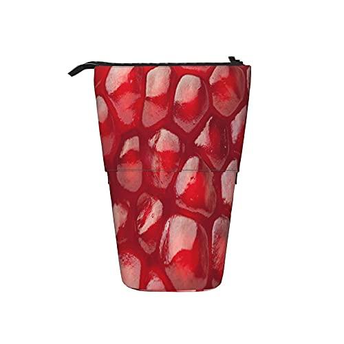 Estuche telescópico para lápices Estuche para bolígrafos Burdeos Granada Vino Rojo Fruta Textura Novely Estuche para lápices Estuche para lápices Estuche para cosméticos Estuche para cosméticos
