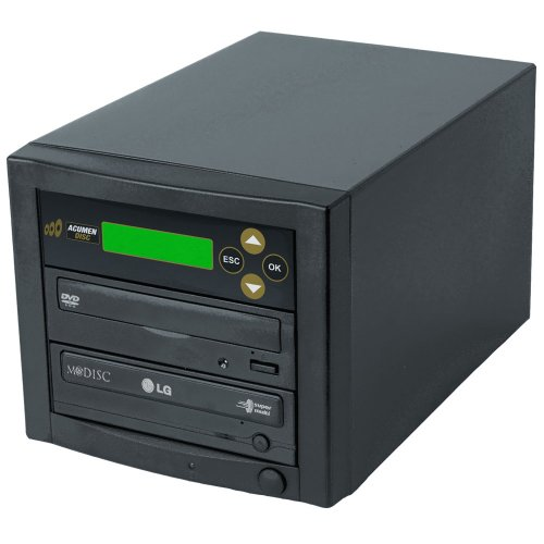 Acumen Disc CD DVD Disc Copier Duplicator System with LG 24x MDisc Burner Writer Optical Drive D01-BLG