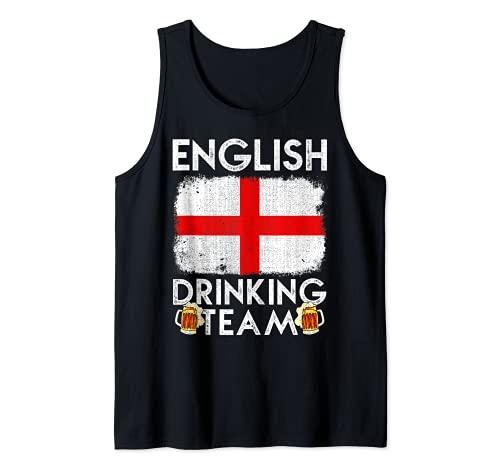 Equipo de Bebida Inglés Diseño Inglaterra Beber Equipo Camiseta sin Mangas