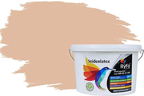 RyFo Colors Seidenlatex Trend Orangetöne Sand 12,5l - bunte Innenfarbe, weitere Orange Farbtöne und Größen erhältlich