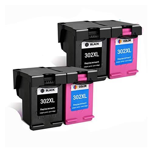 GBHD Tinta de Impresora Reemplazo del Cartucho de Tinta del Arco Iris para HP 302 para HP 302 XL Cartucho de Tinta DeskJet 2130 2131 1110 1111 1112 3630 Impresora (Color : 4)
