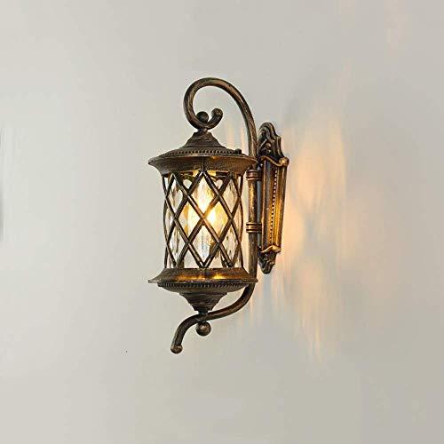 BJClight Lámpara de pared interior, lámpara de pared de piña Aplique de pared exterior impermeable Exterior 46cm Linternas Exterior Aluminio fundido a presión a prueba de herrumbre F