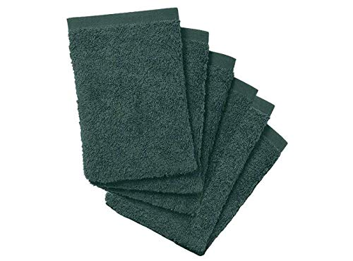 Price comparison product image 8 x Premium Quality 100% Cotton Flannel Wash Mitts Glove Face Mitt Body Scrub Green,  tanning,  car valet carwash