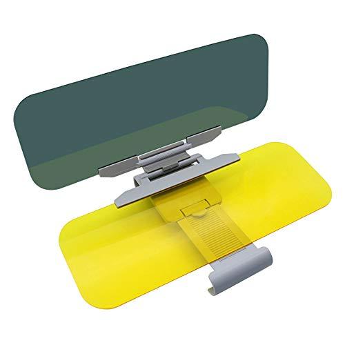 Asdomo Extensión de visera de coche, visera de alta definición, universal para el día y la visión nocturna, protector antideslumbrante, antirayos UV, antideslumbrante, extensor de parabrisas