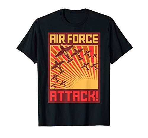 Air Force Attack SOVI8 Propaganda Vintage. Camiseta