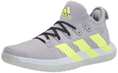 adidas Men's Stabil Next Gen Primeblue Volleyball Shoe, Halo Silver/Yellow/Ink, 13.5