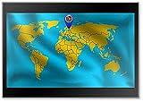 Aland Islands Standort Mark auf der Weltkarte, Aland Islands Flagge Kühlschrankmagnet