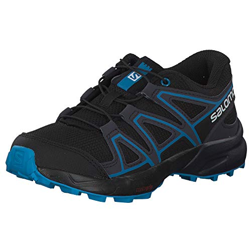 Salomon Speedcross J, Zapatillas de Trail Running, Negro/Azul (Black/Graphite/Hawaiian Surf), 35 EU