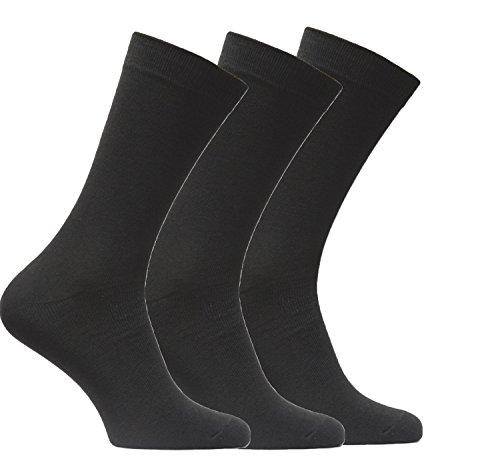 BestSale247 12 Paar Damen Business Freizeit Socken Baumwolle Schwarz 35-38
