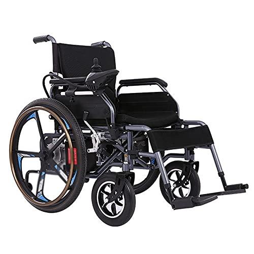 wheelchair Scooter portátil de Silla de Ruedas eléctrica Plegable Inteligente para Ancianos Silla de Ruedas Multifuncional Adecuada para Ancianos/discapacitados
