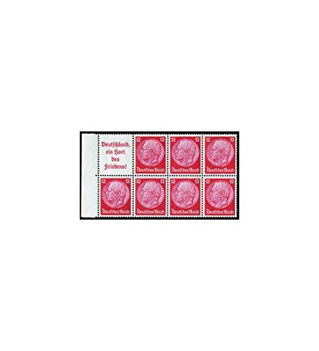 Goldhahn Deutsches Reich Markenheftchenblatt Nr. 86 postfrisch ** Hindenburg A10+12 Pfennig Briefmarken für Sammler