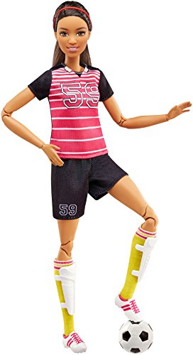 Barbie Fashionosta Made to Move - Muñeca articulada futbolista (Mattel FCX82)