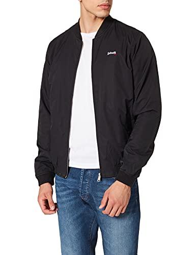 Schott NYC Blouson Bomber Coton Jackets, Black, Medium Mens
