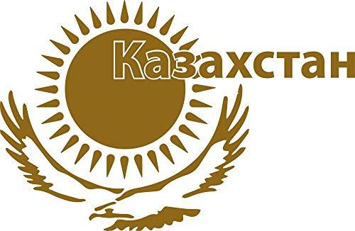 GRAZDesign Wandsticker Deko Aufkleber Kasachstan - Deko Wohnzimmer modern - Wandtattoo Sonne Landkarte / 46x30cm / 092 Kupfer