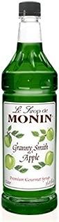 Monin Flavored Syrup, Granny Smith Apple, 33.8-Ounce Plastic Bottle (1 liter)