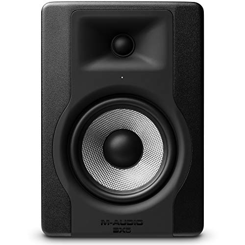 "M-Audio BX5 D3 | Compact 2-Way 5"" Active Studio Monitor Speaker for Music Production and Mixing With Onboard Acoustic Space Control, 1 piece"
